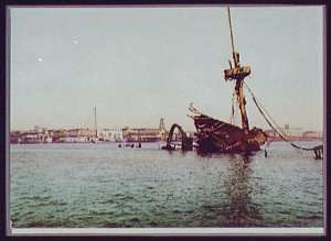 Wreckage of the Maine (Library of Congress)
